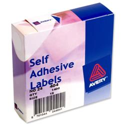 Avery 24-404 Label Dispenser 19mm Diameter White Ref 24-404 - Pack 1400