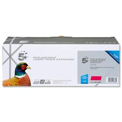 5 Star Office Remanufactured Laser Toner Cartridge 1400pp Magenta [HP No. 125A CB543A Alternative]