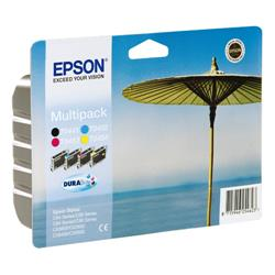 Epson T0445 Inkjet Cartridge DURABrite Parasol Black/Cyan/Magenta/Yellow Ref C13T04454010 - Pack 4