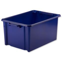 Strata Jumbo Storemaster Crate 560x385x280mm Blue Ref HW048
