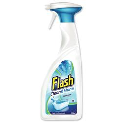 Flash Clean and Shine Bathroom Cleaner Trigger Spray 750ml Ref Y03504 [Pack 2]