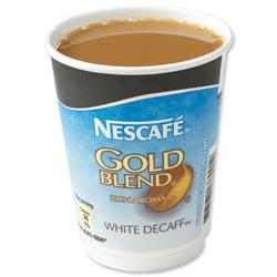 Nescafe & Go Gold Blend Decaffeinated White Coffee Foil-sealed Cup for Machine Ref 12310643 [Pack 8]