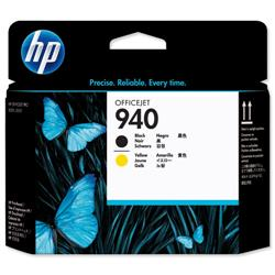 Hewlett Packard HP No. 940 Inkjet Printhead Black and Yellow Ref C4900A