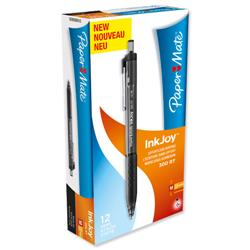 Paper Mate InkJoy 300 RT Ball Pen 1.0mm Tip Black Ref S0959910 [Pack 12]