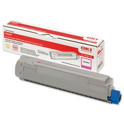 OKI Magenta Laser Toner Cartridge for C8600/C8800 Printers Ref 43487710