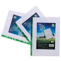 Snopake Bio2 A4 Punched Pockets Clear Biodegradable Ref 15440 - Pack 100