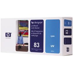 HP Inkjet Printhead & Cleaner No. 83 UV  Cyan 13 ml Ref C4961A