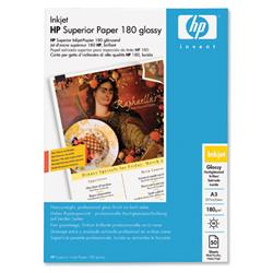 Hewlett Packard HP A3 180gsm Glossy Superior Professional Brochure / Flyer Paper Ref C6821A - 50 Sheets