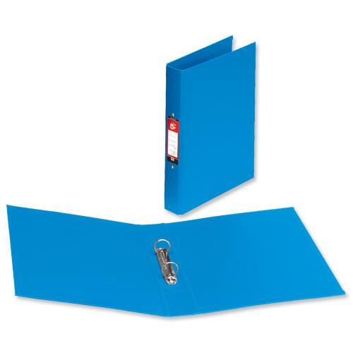 5 star office ring binder 2 o ring size 25mm polypropylene a4 blue