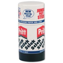 Pritt Stick Glue Solid Washable Non-toxic Jumbo 95g Ref 45552966 - Pack 6