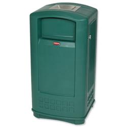 Rubbermaid Landmark Bin with Ashtray 189.1 Litre Green Ref 3965-58