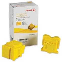 Xerox Ink Sticks Solid Page Life 4400pp Yellow Ref 108R00933 - Pack 2