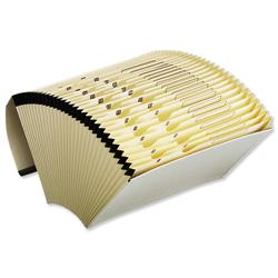 5 Star Office Expanding File with Flap 31 Pockets 1-31 Foolscap Cream