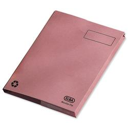 Elba Clifton Flat File with Back Pocket 285gsm Capacity 50mm Foolscap Pink Ref 100090322 [Pack 25]