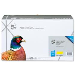 5 Star Office Remanufactured Laser Toner Cartridge 4000pp Yellow [HP No. 502A Q6472A Alternative]