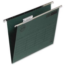 Elba Verticfile Ultimate Suspension File Manilla 240gsm A4 Green Ref 100331251 [Pack 50]
