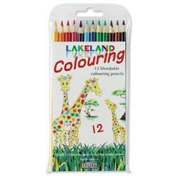 Lakeland Colouring Pencils Round-barrelled Soft Blendable Assorted Ref 33356 - Pack 12