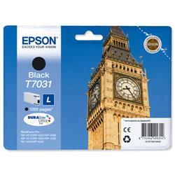 Epson T7031 Inkjet Cartridge Big Ben Page Life 1200pp Black Ref C13T70314010