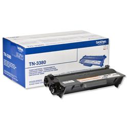 Brother Laser Toner Cartridge High Yield Page Life 8000pp Black Ref TN3380