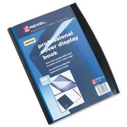 Rexel Display Book Professional 20 Pockets Front Cover Pocket and Card Pocket Ref 2101130