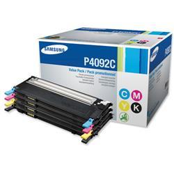 Samsung Laser Toner Value Pack Page Life 4500pp Black/Cyan/Magenta/Yellow Ref CLT-P4092C/ELS - Pack 4 - £40 Cashback