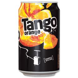 Tango Orange Soft Drink Can 330ml Ref 203353 [Pack 24]
