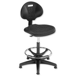 Trexus Lab High Chair Gas Lift Seat W470xD430xH530-785mm Black Ref 564321