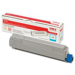 OKI Cyan Laser Toner Cartridge for C8600/C8800 Printers Ref 43487711