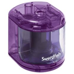 Swordfish Battery Operated Pencil Sharpener Purple Ref 40003