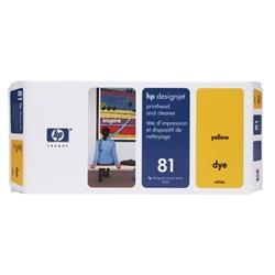 Hewlett Packard [HP] No. 81 13ml Yellow Dye Printhead and Cleaner Ref C4953A