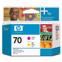 Hewlett Packard HP No. 70 Printhead Magenta and Yellow Ref C9406A