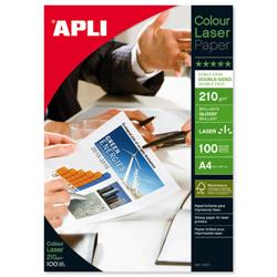 Apli A4 Glossy Laser Paper Double-sided 210gsm Ref 11833 - Pack 100