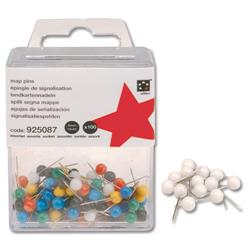 5 Star Office Map Pins 5mm Head White [Pack 100]