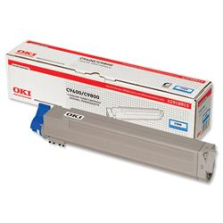 OKI Cyan Laser Toner Print Cartridge for C9600/C9800 Ref 42918915
