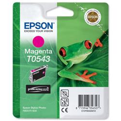 Epson T0543 Inkjet Cartridge Frog Page Life 400pp Magenta Ref C13T05434010