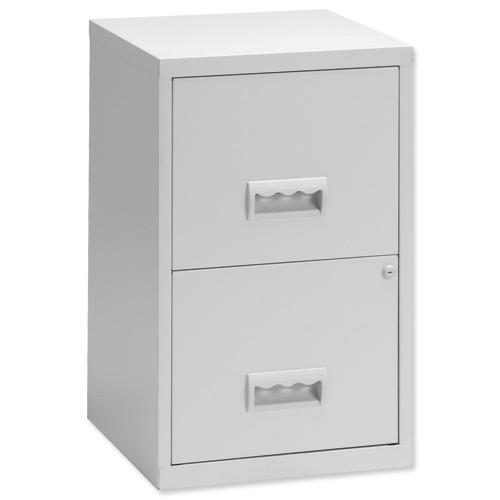 Pierre Henry Filing Cabinet Steel Lockable 2 Drawers A4
