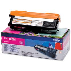 Brother TN-328M Magenta Laser Toner Cartridge Ref TN328M
