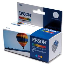 Epson T020 Inkjet Cartridge Hot Air Balloon Page Life 300pp Colour Ref C13T02040110