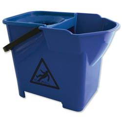 Bentley Colour Coded Mop Bucket Heavy Duty 16 Litre Capacity Blue Ref SPCMB16B