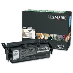 Lexmark Laser Toner Cartridge Extra High Yield Page Life 36000pp Black Ref T654X11E