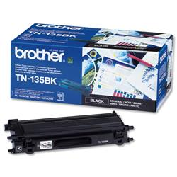 Brother TN135BK Black Laser Toner Cartridge Ref TN-135BK