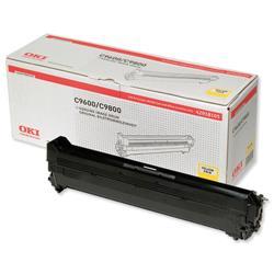 OKI Yellow Image Drum Unit for C9600/C9800 Ref 42918105