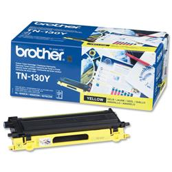 Brother TN130Y Yellow Laser Toner Cartridge Ref TN-130Y