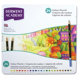Derwent Academy Colouring Pencils High -quality Pigments Assorted Ref 2301938 - Pack 24