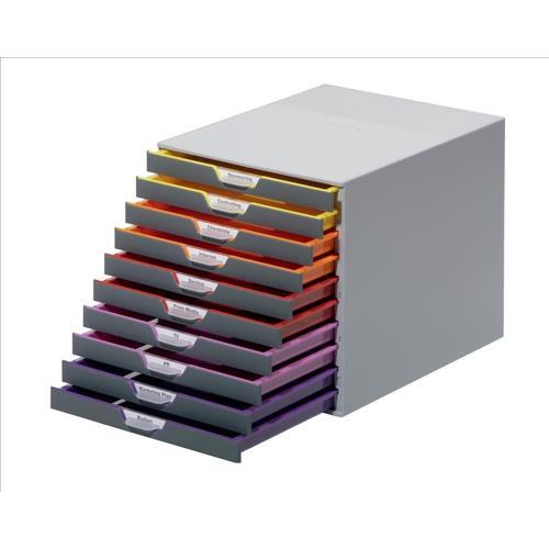 Durable Varicolor Plastic Desktop Drawer Set Stackable 10
