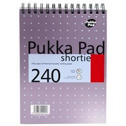Pukka Metallic Shortie Pad Wirebound Perforated Feint Ruled 240pp 80gsm 235x178mm Ref NM001 - Pack 3