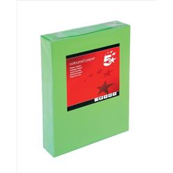 5 Star Office Coloured Copier Paper Multifunctional Ream-Wrapped 80gsm A4 Deep Green [500 Sheets]