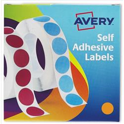 Avery Label Dispenser for Diam.19mm Orange Ref 24-608