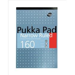 Pukka Metallic Refill Pad Headbound Punched Feint Ruled 6mm Margin 160pp 80gsm A4 Ref 6253-REF - Pack 6