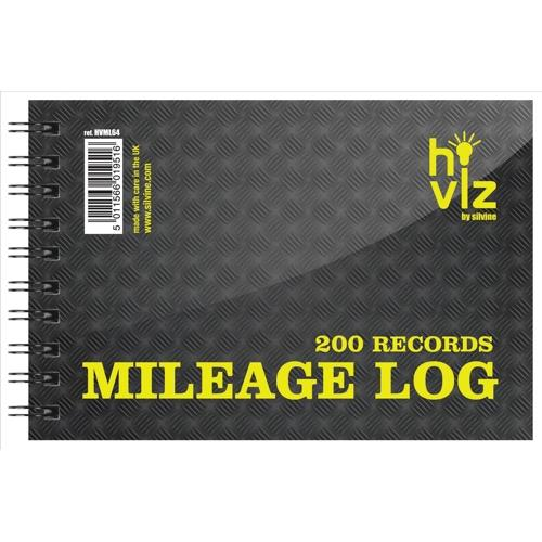silvine mileage log book 50pp 75gsm 152x102mm ref hvml64 hvml64